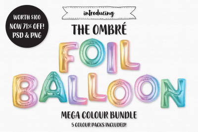 The Ombre Foil Balloon Bundle
