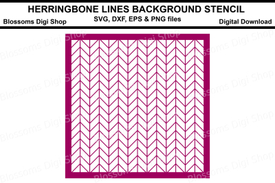Herringbone Lines background stencil SVG, DXF, EPS and PNG files