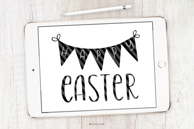 Happy Easter SVG, cutting file and decal