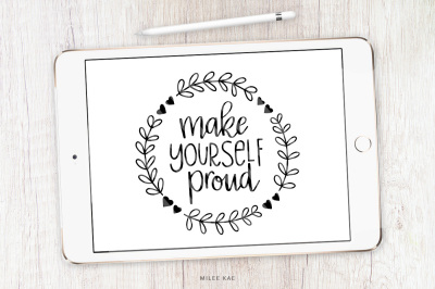 Inspiring quote SVG, cutting file and decal