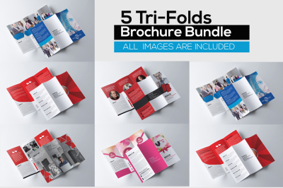 5 Multi Use Trifolds Brochures Bundle