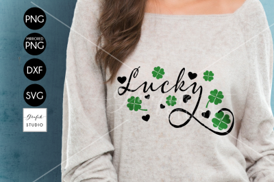 Lucky Shamrock St Patricks Day SVG
