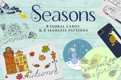Seasons greeting set