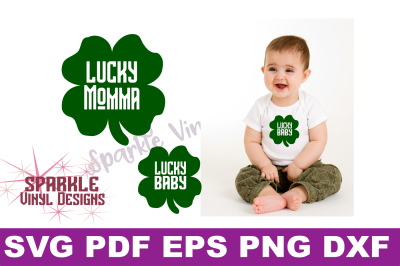 Lucky Momma and Lucky Baby Svg