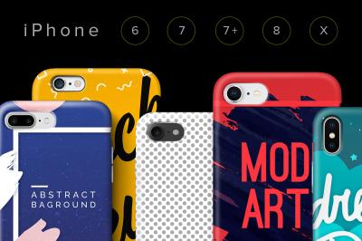 Cases iPhone 6, 7, 7plus, 8, X Set