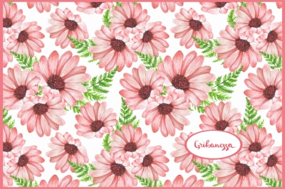 Watercolor floral pattern 1