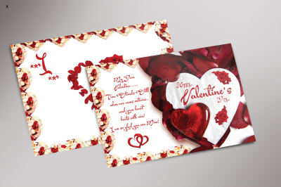 Valentine's Day PostCard Template