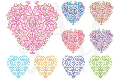 Rose Heart Clip Art