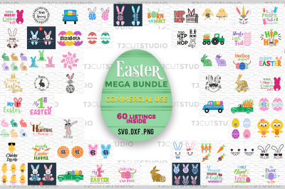 SVG BUNDLE ,Easter SVG Bundle, Happy Easter Bundle svg, Happy Easter.