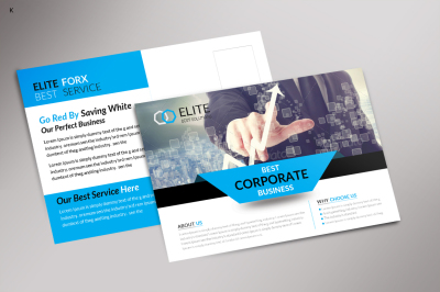 Corporate Business Post Card Template