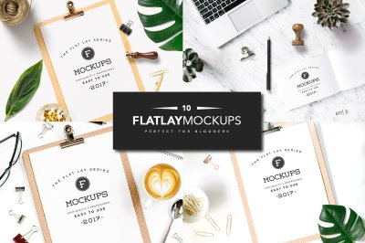 10 Flat Lay Stationery Mockups