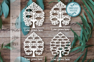 3-21 Family Tree Bundle - SVG DXF PNG PDF JPG