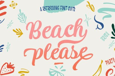 Beach Please Family - 7Fonts