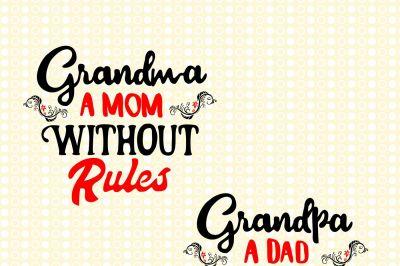 Grandparents- EPS, SVG, JPEG, DXF, PNG, AI
