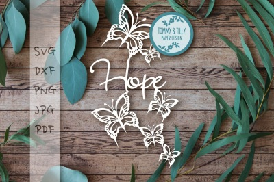 Hope Butterflies SVG DXF PNG PDF JPG