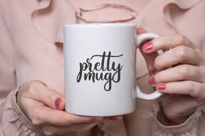Pretty Mug Mockup. JPEG