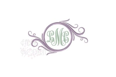 Fancy Round Monogram wreath frame