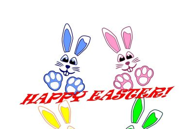 Easter bunny- SVG,EPS, DXF, PNG, JPEG, AI