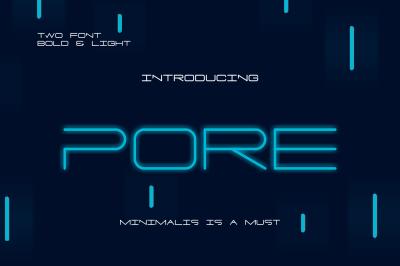 PORE Font