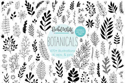 Botanicals, Vector Illustrations