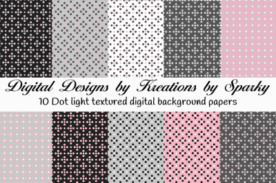 Dual Color Dot Digital Background Papers
