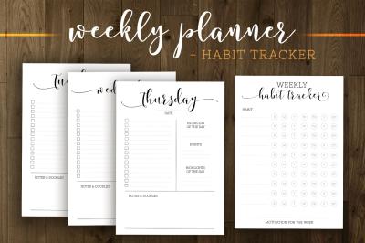 Basic Everyday Planner Printable