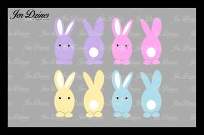 Easter Bunny Bundle SVG DXF EPS PNG