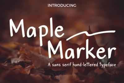 Maple Marker sans serif font