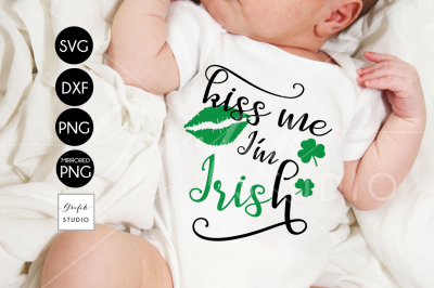 Kiss me Im Irish St Patricks Day SVG