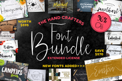 The HandCrafters Font Bundle