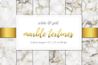 Marble Textures - White & Gold