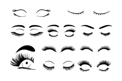 Eyelashes SVG, eyelash svg files for Silhouette Cameo and Cricut