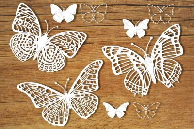 Butterflies set 1 SVG files for Silhouette Cameo and Cricut.