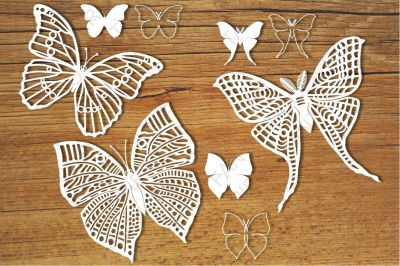 Butterflies set 2 SVG files for Silhouette Cameo and Cricut.