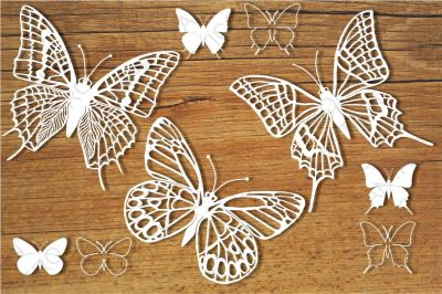 Butterflies set 4 SVG files for Silhouette Cameo and Cricut.