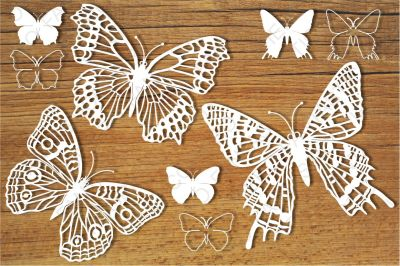 Butterflies set 5 SVG files for Silhouette Cameo and Cricut.