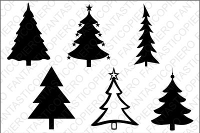 Christmas tree SVG files for Silhouette Cameo and Cricut.