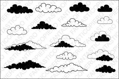 Clouds SVG files for Silhouette Cameo and Cricut.