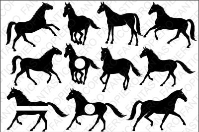 Horses SVG files for Silhouette Cameo and Cricut.