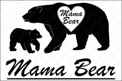 Mama Bear SVG files for Silhouette Cameo and Cricut.