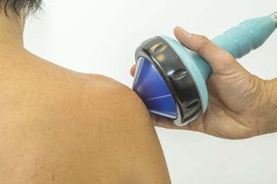 Shockwave therapy on shoulder