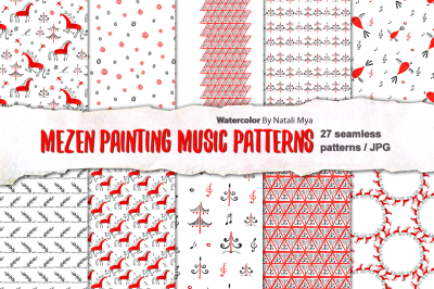 Mezen painting music patterns