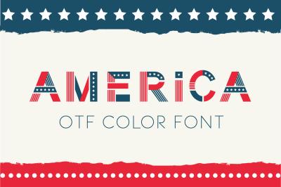 America otf color font