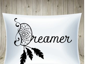 Dreamer svg, dream catcher svg, dream svg, feathers svg, dreaming svg,