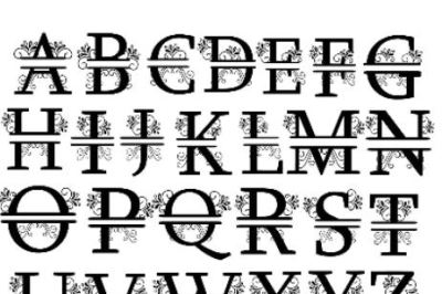 Monogram svg, alphabet svg, monogram font svg, svg monogram, svg alpha