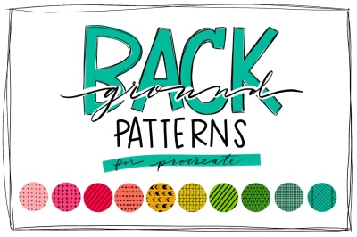 Pattern Brush Stamps for Procreate