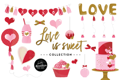 Love Is Sweet Graphics & Patterns Bundle