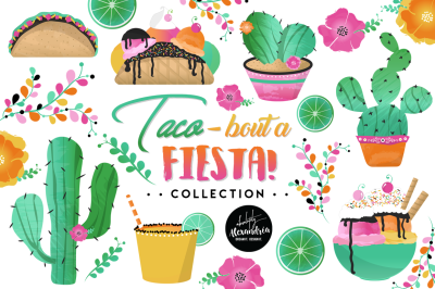Taco Bout a Fiesta #2 Graphics & Patterns Bundle