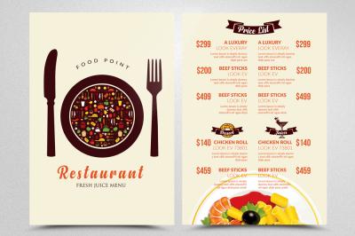Food & Restaurant Menu Templates