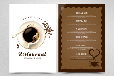 Cafe' & Restaurant Menu Templates